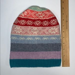 Gap Kids wool blend beanie hat Crazy Fairisle OS